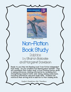 Non-Fiction Book Study - Dolphins by Sharon Bokoske and Margaret Davidson