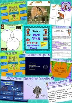 Book Study: Fantastic Mr Fox Entire Program and Smart Notebook Bundle