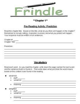 Frindle- Book Study