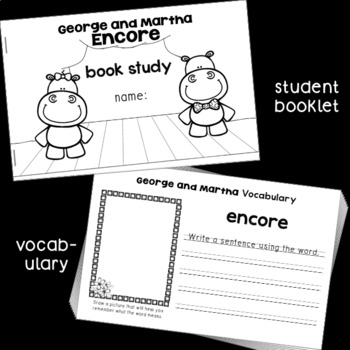 Book Study: George and Martha Encore by James Marshall