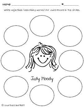 """Book Study Guide for """"Judy Moody: Girl Detective"""""""