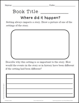 Idea Charts and Organizers for Elementary Historical Fiction Book Studies