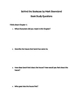 Book Study Questions for Behind the Bookcase by Mark Steensland