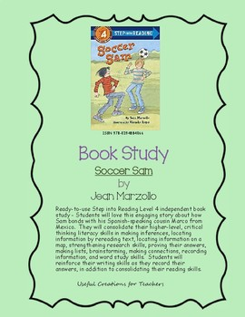 Book Study - Soccer Sam by Jean Marzollo
