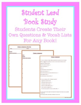 Book Study: Student Led Questions & Vocab