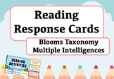 Novel Study Task Cards - Multiple Intelligences and Blooms