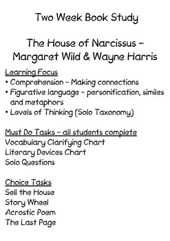 Book Study - The House of Narcissus
