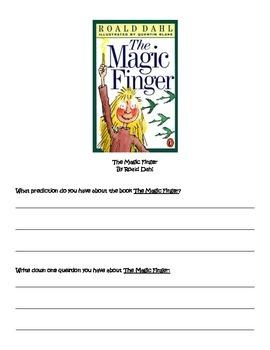 The Magic Finger: Reading Response Journal