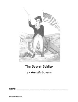 Book Study The Secret Soldier By Ann Mcgovern Aligned To 4th Grade