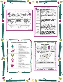 Reading Comprehension and Word Study Worksheets {Informational Text Book Study}