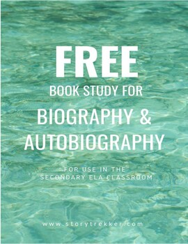 Book Study for Biographies and Autobiographies