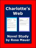 Charlotte's Web Novel Study Comprehension Questions Activities