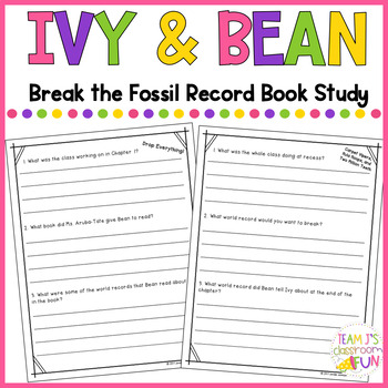 Book Study for Ivy + Bean Break the Fossil Record
