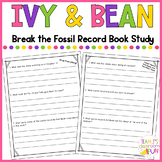 Ivy and Bean Break the Fossil Record Book Study