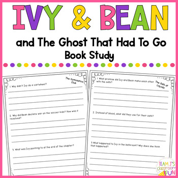 Book Study for Ivy + Bean and The Ghost That Had to Go