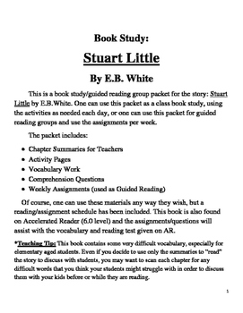 Book Study on Stuart Little