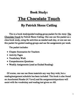 Book Study on The Chocolate Touch