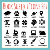 Book Subject Icons Clip Art Pack for Commercial Use