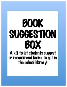 Book Suggestion Box Kit