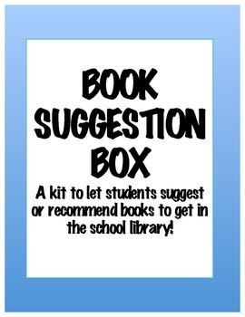 Book Suggestion Box Kit