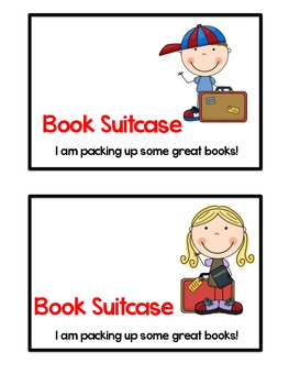 Book Suitcase Tags for Daily 5/ Reading Workshop