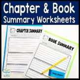 Book Summary AND Chapter Summary Worksheets: Templates for Any Novel Study!