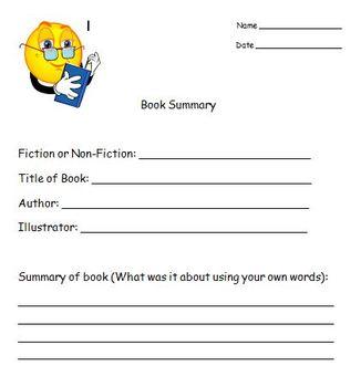 Book Summary Accountabilty Worksheet