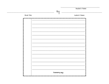 Book Summary Foldable