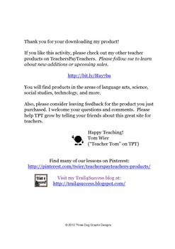 Book Summary Form for Picture Books or Chapter Books