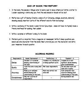 Book Summary - The Messenger - Level V, Lexile 720L, DRA 44