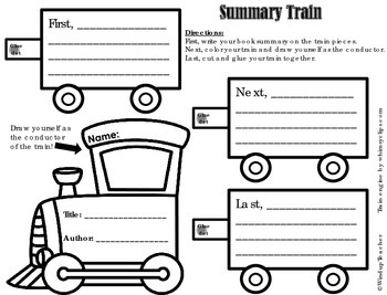 Book Summary Activity:  Make a Train
