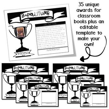 Book Superlatives (SuperLITives): A fun book project to celebrate books!