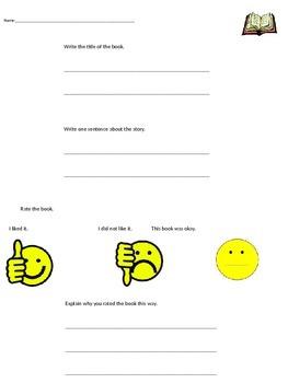 Book Survey Sheets