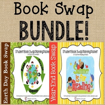 "Book Swap K-5 Bundle:  Includes ""Earth Day"" and ""Summer Reading"" Versions!"