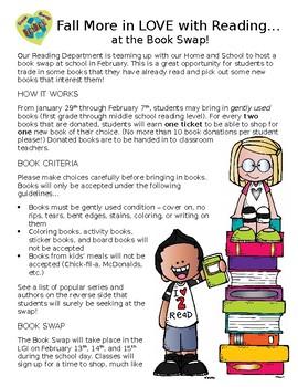 Book Swap Letter to Parents