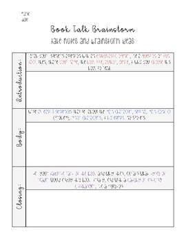 Book Talk Activity Sheets