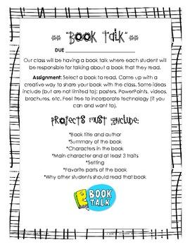 Book Talk Assignment Handout