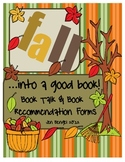 Book Talk & Book Recommendation Forms: Planning, Presenting, Evaluating, Rubric