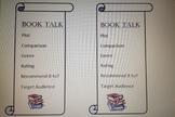 Book Talk Bookmark
