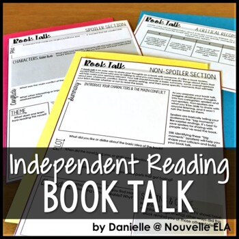 Book Talk Brainstorming - Independent Reading