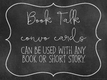 Book Talk Convo Cards
