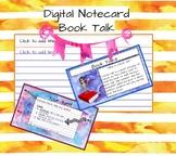 Book Talk Digital Notecard
