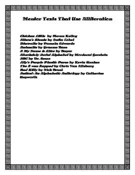 Book Talk Form ( Allieration pdf form)