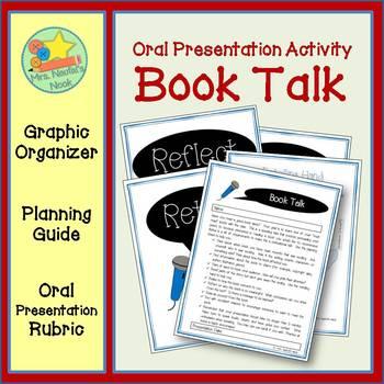 Book Talk - Graphic Organizer, Planning Guide, Presentation Rubric