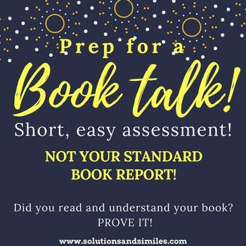 Book Talk Prep