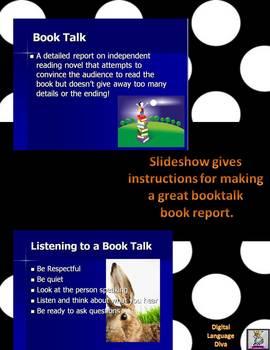 Book Talk Presentation Powerpoint ONLY