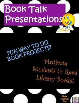 Book Talk Presentation Powerpoint ONLY