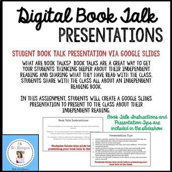 Book Talk Presentations