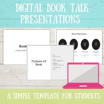 book talk presentations by oh so simple teachers pay teachers
