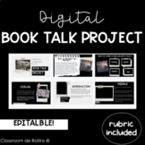 Book Talk Project   Digital and Editable   Reading Project